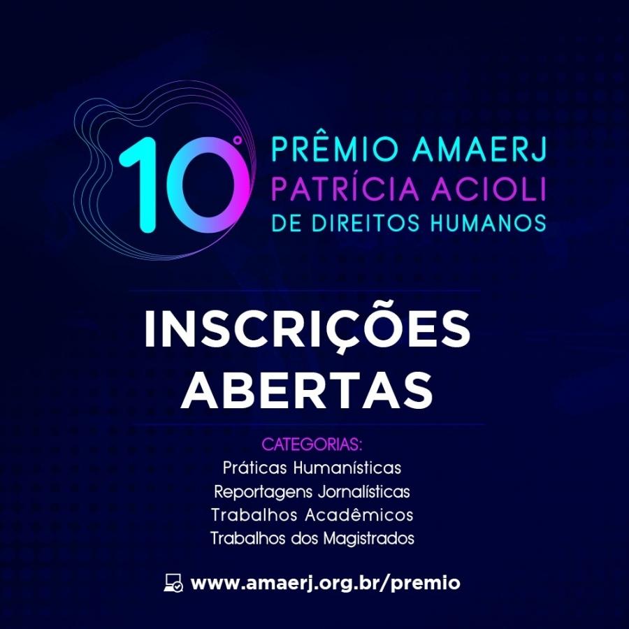 10º Prêmio AMAERJ Patrícia Acioli de Direitos Humanos